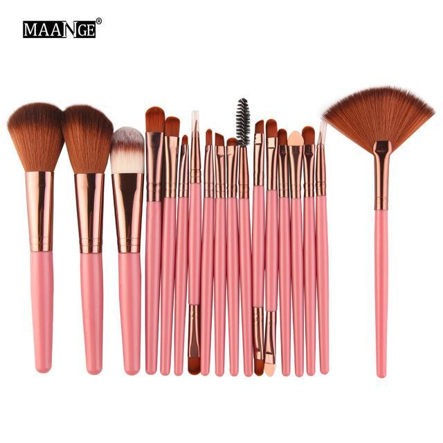 Pro 18 Pcs Makeup Brushes Set Foundation Contour Powder Eye Shadow Eyeliner Lip Blending Brushes-Makeup-Beautys Shop Store-FK14-EpicWorldStore.com