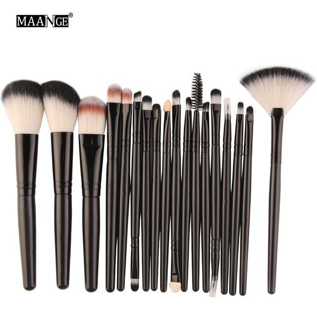 Pro 18 Pcs Makeup Brushes Set Foundation Contour Powder Eye Shadow Eyeliner Lip Blending Brushes-Makeup-Beautys Shop Store-HH15-EpicWorldStore.com