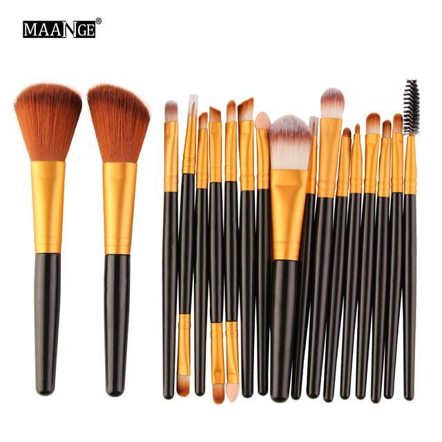 Pro 18 Pcs Makeup Brushes Set Foundation Contour Powder Eye Shadow Eyeliner Lip Blending Brushes-Makeup-Beautys Shop Store-HJ-EpicWorldStore.com