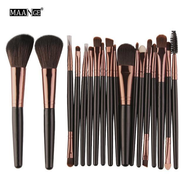 Pro 18 Pcs Makeup Brushes Set Foundation Contour Powder Eye Shadow Eyeliner Lip Blending Brushes-Makeup-Beautys Shop Store-HK-EpicWorldStore.com