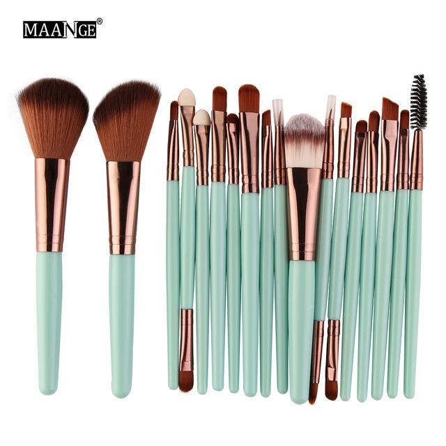 Pro 18 Pcs Makeup Brushes Set Foundation Contour Powder Eye Shadow Eyeliner Lip Blending Brushes-Makeup-Beautys Shop Store-LK-EpicWorldStore.com