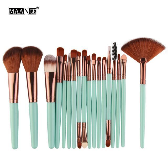 Pro 18 Pcs Makeup Brushes Set Foundation Contour Powder Eye Shadow Eyeliner Lip Blending Brushes-Makeup-Beautys Shop Store-LK11-EpicWorldStore.com
