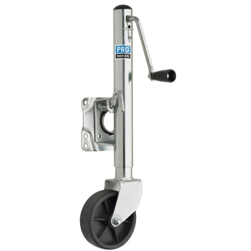 "Pro Series 1000 Lbs. Zinc Plated Swivel Jack W-6"" Poly Wheel-Marine Products-Pro Series-EpicWorldStore.com"