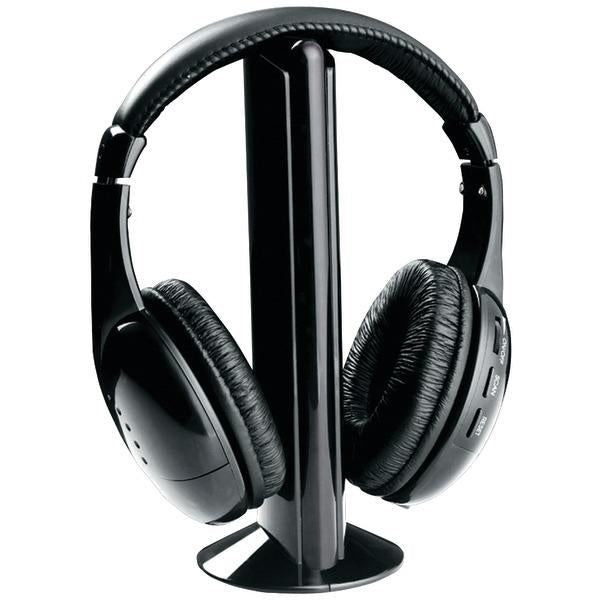 Professional 5-In-1 Wireless Headphones With Microphone & Fm Radio-Portable & Personal Electronics-NAXA(R)-EpicWorldStore.com