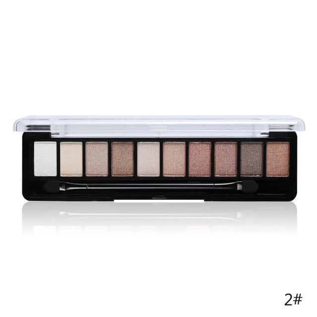 Professional Makeup Brand Earth Color 10 Colors Eyeshadow Palette Glitter Eye Palette Maquiagem-Makeup-Music Flower Franchise Store-02-EpicWorldStore.com