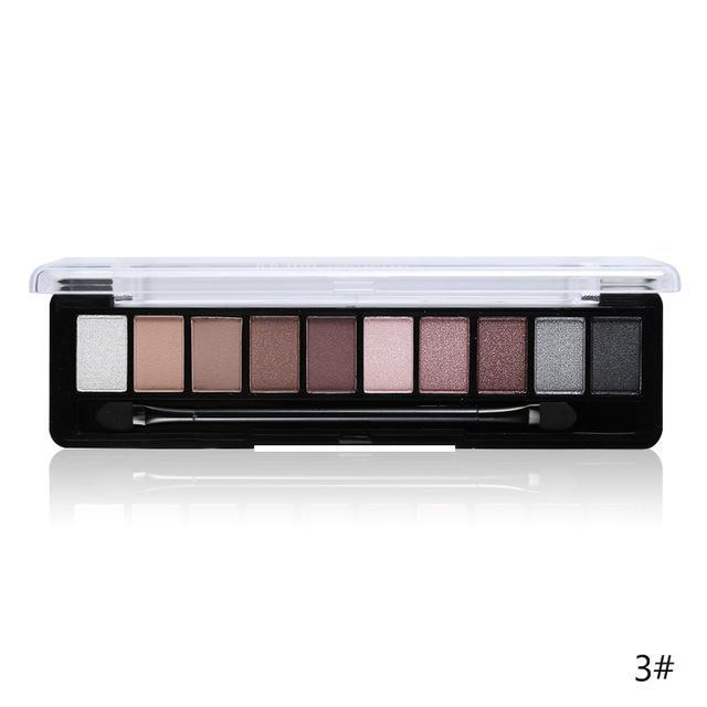 Professional Makeup Brand Earth Color 10 Colors Eyeshadow Palette Glitter Eye Palette Maquiagem-Makeup-Music Flower Franchise Store-03-EpicWorldStore.com