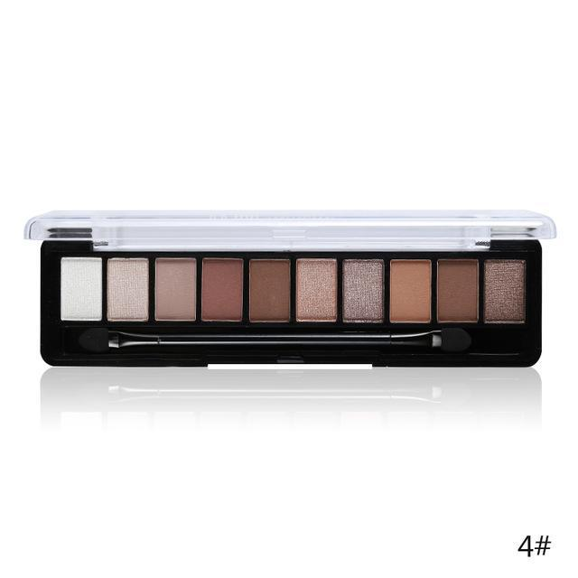 Professional Makeup Brand Earth Color 10 Colors Eyeshadow Palette Glitter Eye Palette Maquiagem-Makeup-Music Flower Franchise Store-04-EpicWorldStore.com