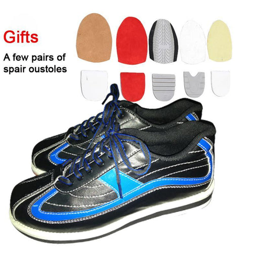 Professional Men Bowling Shoes Male Anti-Skid Outsole Sneakers Genuine Leather Microfiber Breathable-Bowling-SportsTalent Store-38-EpicWorldStore.com