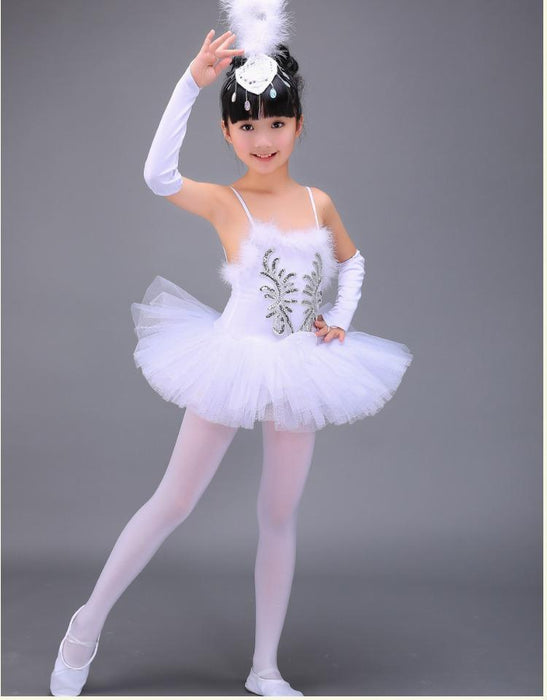 5d916ab51e5f Professional White Swan Lake Ballet Tutu Costume Girls Children Ballerina  Dress Kids Ballet Dress-Stage
