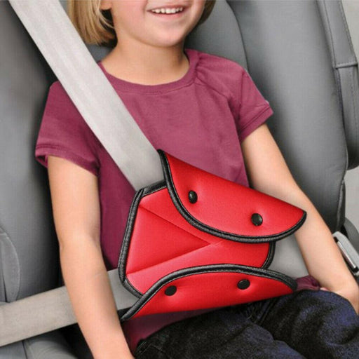 Protect Baby Kids Car Seat Belt Triangle Safety Holder Protect Child Seat Cover Adjuster Useful-Shopping Cart Covers-Joss Fashion Store-Red-EpicWorldStore.com