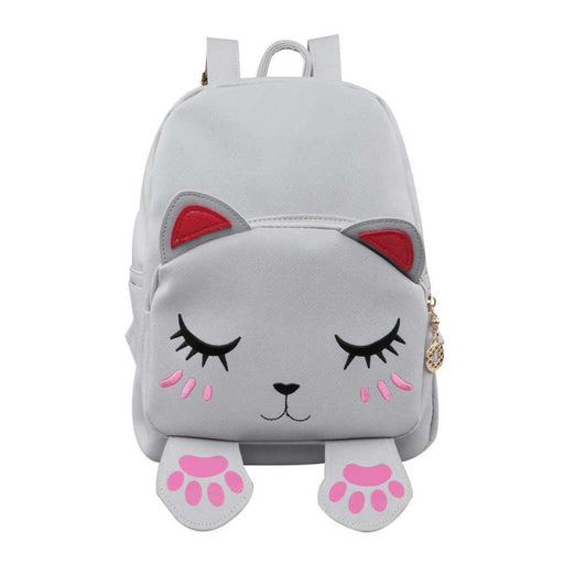 Pu Leather Shoulder Backpack Cute Cat Backpack School Women Backpacks Girl Back Pack Travel Rucksack-Xiniu Bag Store-Black-EpicWorldStore.com
