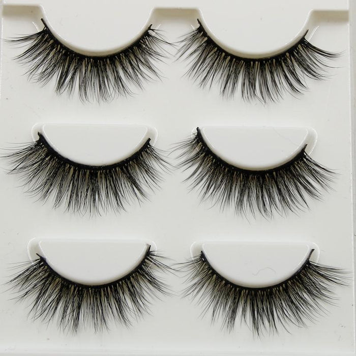 Pure Hand Cotton Thread False Eyelashes Messy Soft Natural Thick Fake Eyelashes 3D Three Dimensional-Makeup-Yiwu Makeup Store-EpicWorldStore.com