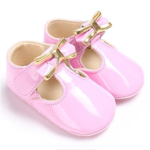 f036657c5d68 Puseky Sweet Casual Princess Girls Baby Kids Pu Leather Solid Crib Babe Infant  Toddler Cute Bow