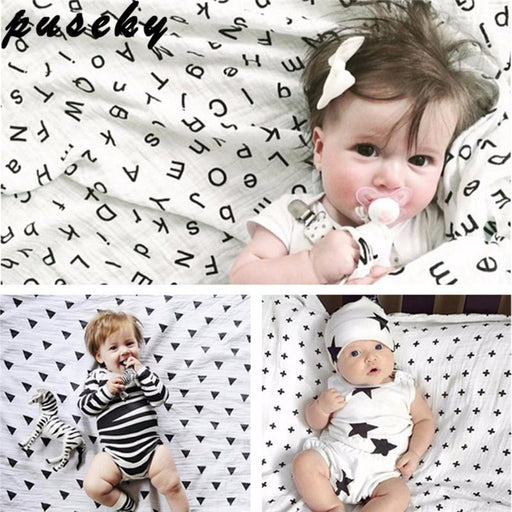 Puseky Toddler Newborn Baby Infant Kids Muslin Swaddle Soft Sleeping Blanket Wrap Bath Towel Swaddle-Baby Bedding-Coool Baby Store-Panda-EpicWorldStore.com