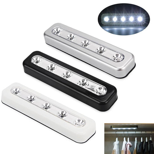 Push Touch Wall Light Led Night Light 5Led Home Lighting Self-Stick Closet Lamp Wall Light Battery-LED Lamps-ledsmith Official Store-White-EpicWorldStore.com
