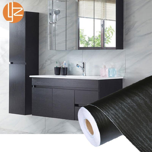 Pvc Self Adhesive Waterproof Black Wood Wallpaper Roll Furniture Door Desktop Cabinets Wardrobe-Wallpapers-Fashion Home 2014 Store-60cmx2m-EpicWorldStore.com