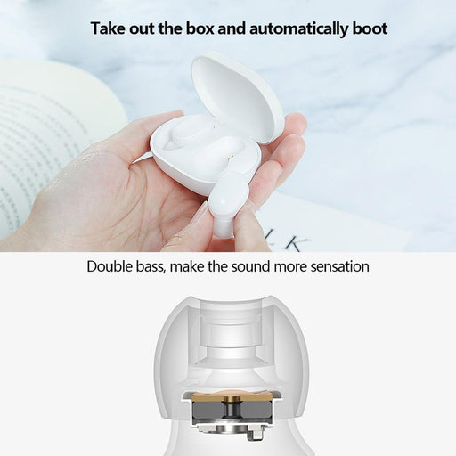 Pxiaom Tws Airdots Bluetooth Earphone Youth Version Stereo Bass Bt 5.0 Headphones With Mic Hands-Bluetooth Earphones & Headphones-Mi-factory Store-XIAOMI WHITE-EpicWorldStore.com
