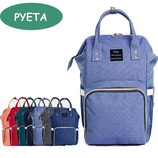 Pyeta Mummy Maternity Nappy Bag Brand Large Capacity Baby Bag Travel Backpack Desiger-Baby Care-Mami Shop Store-Black-EpicWorldStore.com