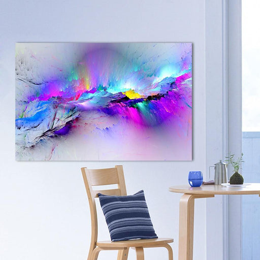 Qkart Oil Painting Wall Pictures For Living Room Home Decor Abstract Clouds Colorful Canvas Art Home-Painting & Calligraphy-QK ART Store-8X12-EpicWorldStore.com