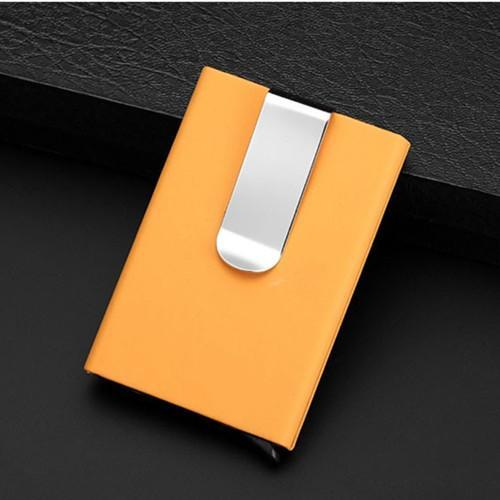 Qoong Travel Card Wallet Automatic Pop Up Id Credit Card Holder Men
