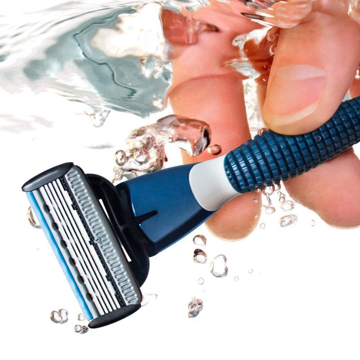 Qshave Blue Men Manual Shaving Trimmer Blade Razor Can Provide Qshave Name Engraved Service (1Pc-Shaving & Hair Removal-QShave Store-Qshave handle-EpicWorldStore.com