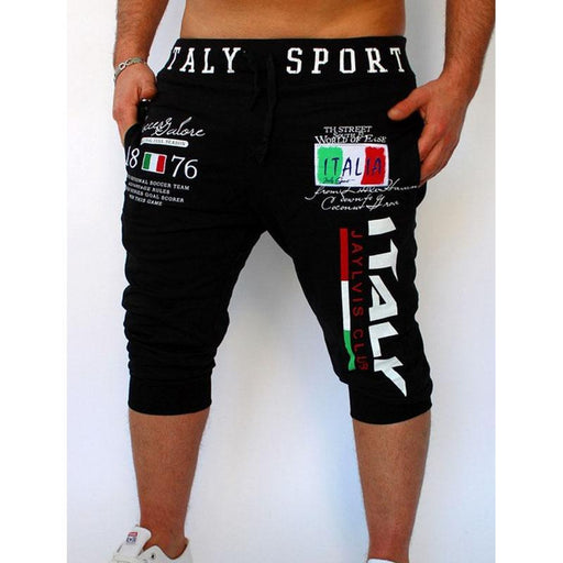 Quick Sell Through The Explosion Of Trousers Italian Digital Printing Design Male Shorts-Shorts-Shop2839086 Store-Black-M-EpicWorldStore.com