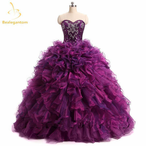 15b364729ac Quinceanera Dresses Ball Gown New Stylish Sweetheart Neck Beading Crystal  Ruched Floor Length-Quinceanera Dresses