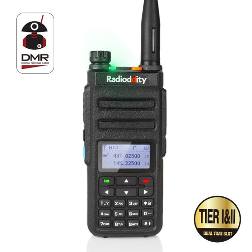 Radioddity Gd-77 Dual Band Dual Time Slot Dmr Digital/Analog Two Way Radio 136-174 /400-470Mhz-Communication Equipments-QualityEx-EpicWorldStore.com