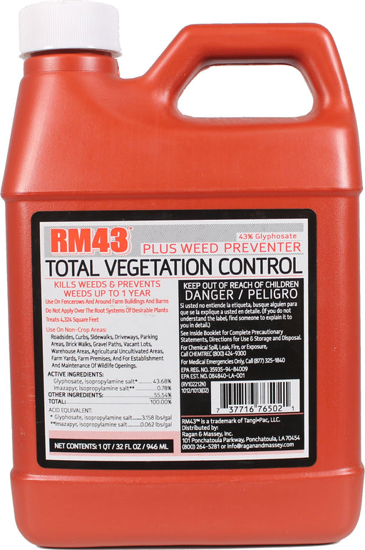 Ragan And Massey Inc - Rm43 Total Vegetation Control-Pet-Ragan And Massey Inc-32 OUNCE-EpicWorldStore.com