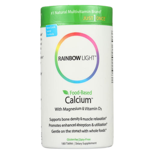 Rainbow Light Food-Based Calcium - 180 Tablets-Eco-Friendly Home & Grocery-Rainbow Light-EpicWorldStore.com