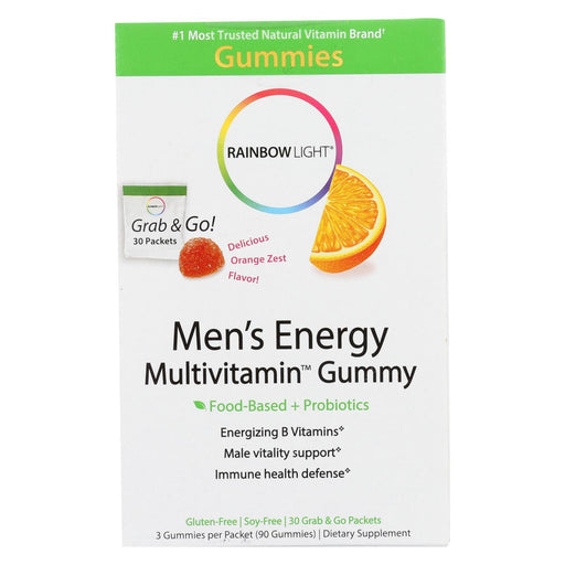 Rainbow Light Mens Multivitamin - Energy - Gummy - 30 Packets-Eco-Friendly Home & Grocery-Rainbow Light-EpicWorldStore.com