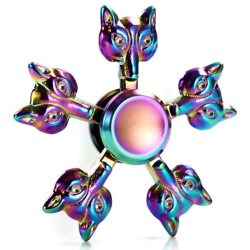 Rainbow Metal Flower Fidget Spinner Latest Colorful Stress Relieve Hand Spinner Round Snowflake-Stress Relief Toy-toytoytoys Store-B-EpicWorldStore.com