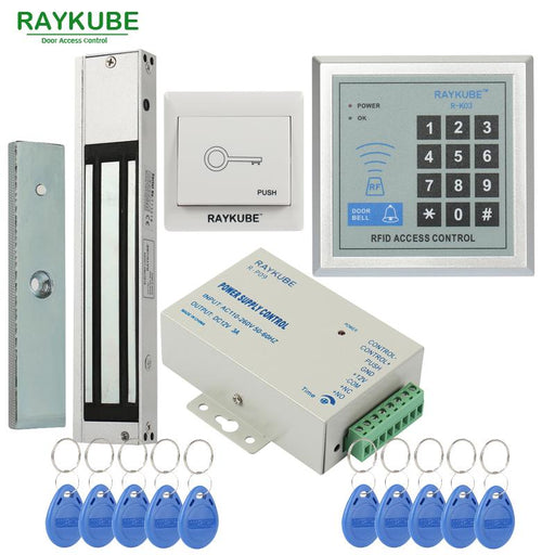 Raykube Access Control System Kit 180Kg/280Kg Electric Magnetic Lock + Password Keypad Gate Opener-RAYKUBE Official Store-R180M-EpicWorldStore.com