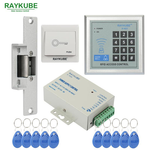 Raykube Special Offer Access Control Kit Electric Strike Lock + Password Keypad Rfid Reader-RAYKUBE Official Store-RSNC-EpicWorldStore.com