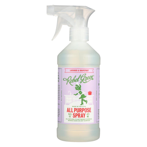 Rebel Green - All-Purpose Spray - Lavender And Grapefruit - Case Of 4 - 16 Fl Oz.-Eco-Friendly Home & Grocery-Rebel Green-EpicWorldStore.com