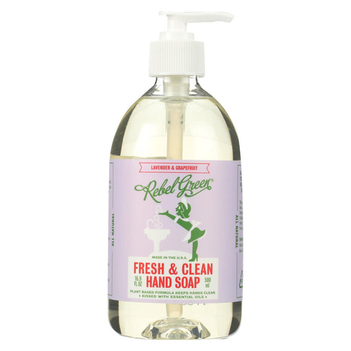 Rebel Green Hand Soap - Lavender - Case Of 4 - 16.9 Fl Oz-Eco-Friendly Home & Grocery-Rebel Green-EpicWorldStore.com