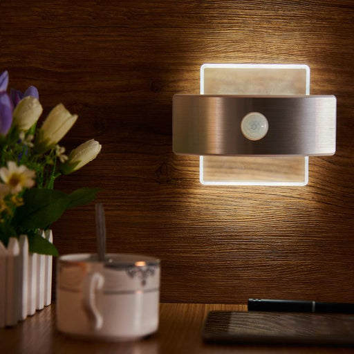 Rechargeable Led Infrared Pir Motion Sensor Night Light Wireless Led Wall Lamp Auto On/Off For Kid-GRN-FLASHING Store-Rectangle-White color-EpicWorldStore.com