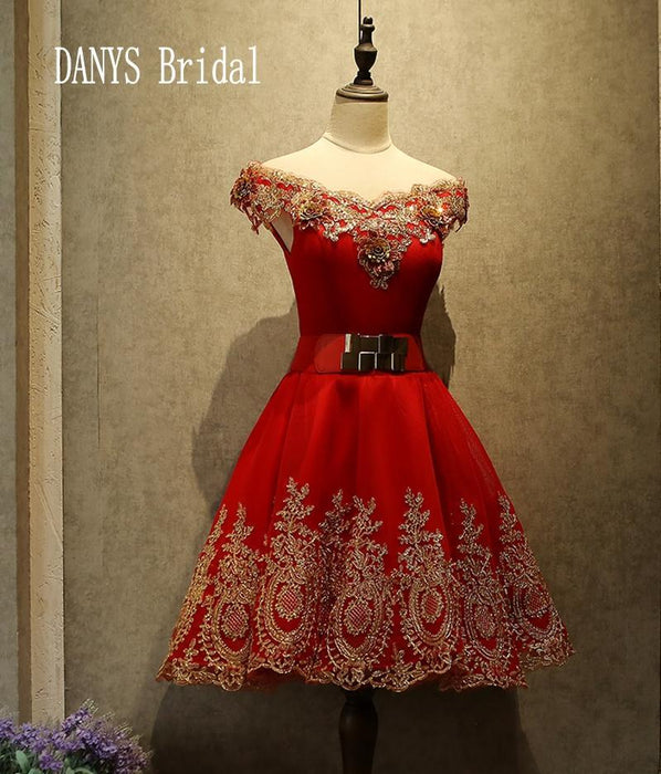 Red Short Homecoming Dresses 8th Grade Prom Dresses Junior High Cute