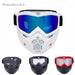 Reedocks New Modular Mask Detachable Goggles Mouth Filter Ski Glass Men Women Windproof Snow-Shooting-ReedoSport Store-S011 Colored Lens-EpicWorldStore.com