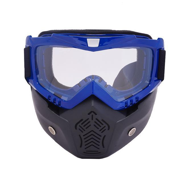 Reedocks New Modular Mask Detachable Goggles Mouth Filter Ski Glass Men Women Windproof Snow-Shooting-ReedoSport Store-S012 Clear lens-EpicWorldStore.com