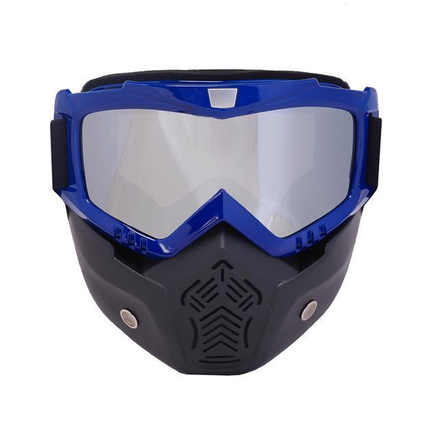 Reedocks New Modular Mask Detachable Goggles Mouth Filter Ski Glass Men Women Windproof Snow-Shooting-ReedoSport Store-S013 Silver lens-EpicWorldStore.com