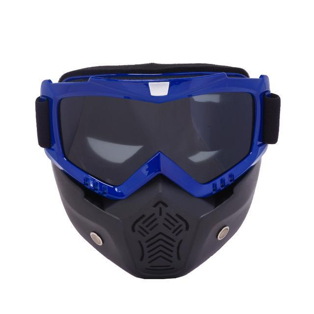 Reedocks New Modular Mask Detachable Goggles Mouth Filter Ski Glass Men Women Windproof Snow-Shooting-ReedoSport Store-S014 Gray Lens-EpicWorldStore.com