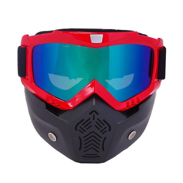 Reedocks New Modular Mask Detachable Goggles Mouth Filter Ski Glass Men Women Windproof Snow-Shooting-ReedoSport Store-S021 Colored Lens-EpicWorldStore.com