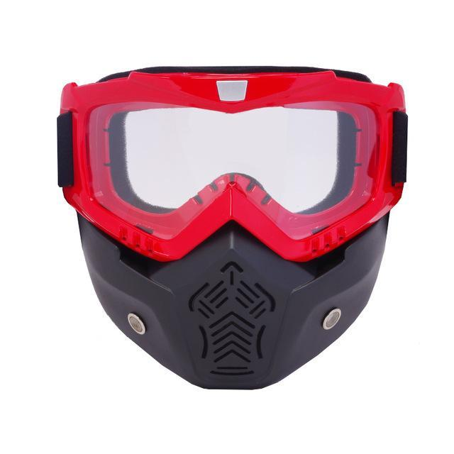 Reedocks New Modular Mask Detachable Goggles Mouth Filter Ski Glass Men Women Windproof Snow-Shooting-ReedoSport Store-S022 Clear lens-EpicWorldStore.com