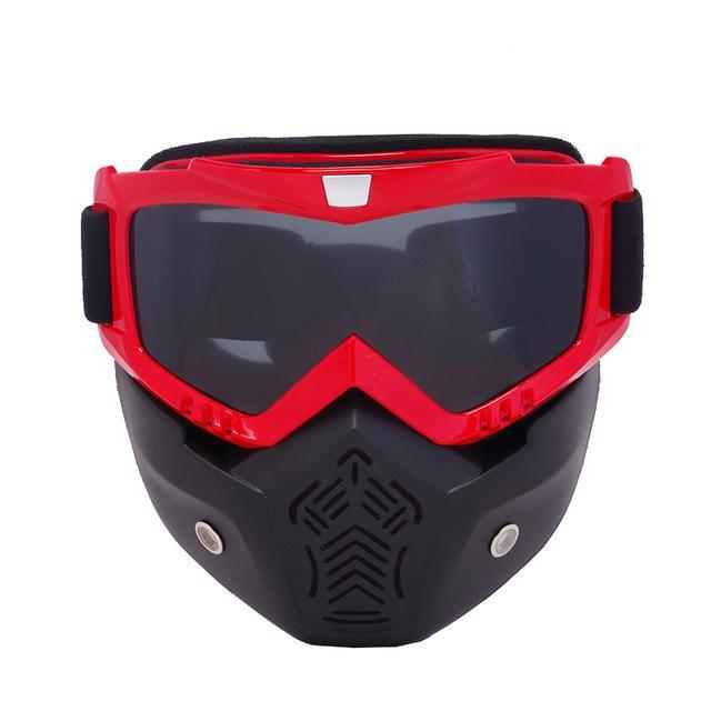 Reedocks New Modular Mask Detachable Goggles Mouth Filter Ski Glass Men Women Windproof Snow-Shooting-ReedoSport Store-S024 Gray Lens-EpicWorldStore.com