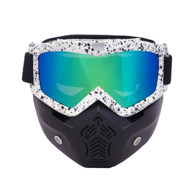 Reedocks New Modular Mask Detachable Goggles Mouth Filter Ski Glass Men Women Windproof Snow-Shooting-ReedoSport Store-S031 Colored Lens-EpicWorldStore.com