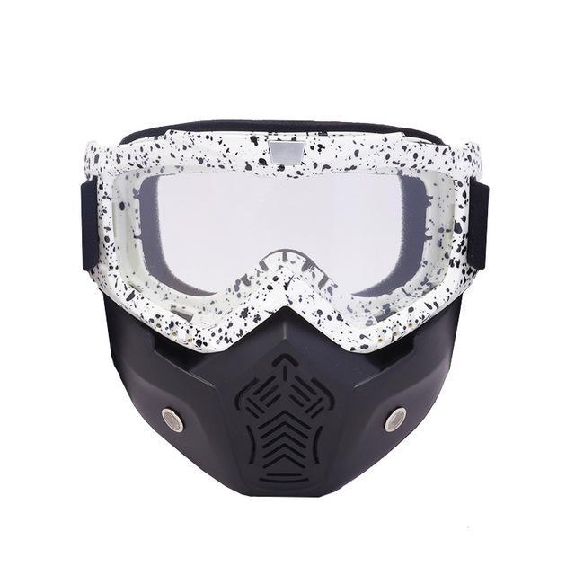 Reedocks New Modular Mask Detachable Goggles Mouth Filter Ski Glass Men Women Windproof Snow-Shooting-ReedoSport Store-S032 Clear lens-EpicWorldStore.com