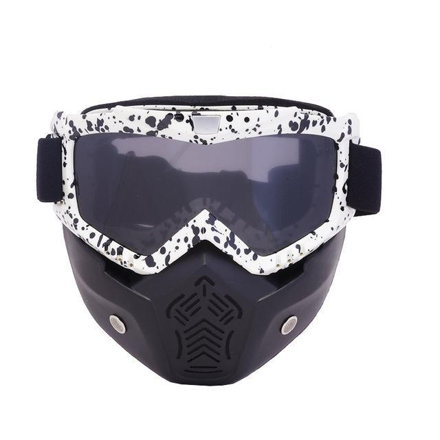 Reedocks New Modular Mask Detachable Goggles Mouth Filter Ski Glass Men Women Windproof Snow-Shooting-ReedoSport Store-S034 Gray Lens-EpicWorldStore.com