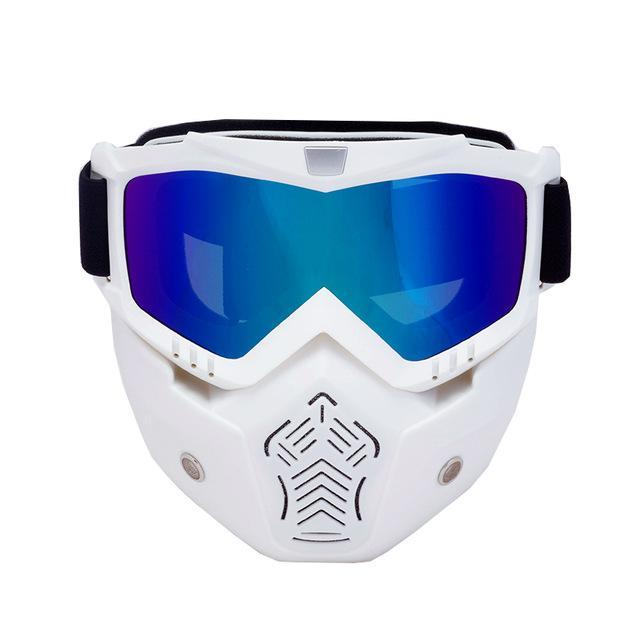 Reedocks New Modular Mask Detachable Goggles Mouth Filter Ski Glass Men Women Windproof Snow-Shooting-ReedoSport Store-S041 Colored Lens-EpicWorldStore.com