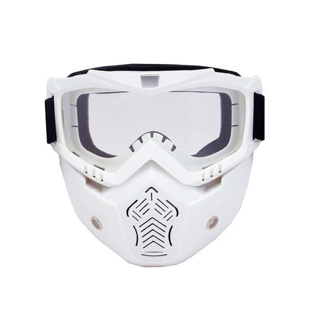 Reedocks New Modular Mask Detachable Goggles Mouth Filter Ski Glass Men Women Windproof Snow-Shooting-ReedoSport Store-S042 Clear lens-EpicWorldStore.com